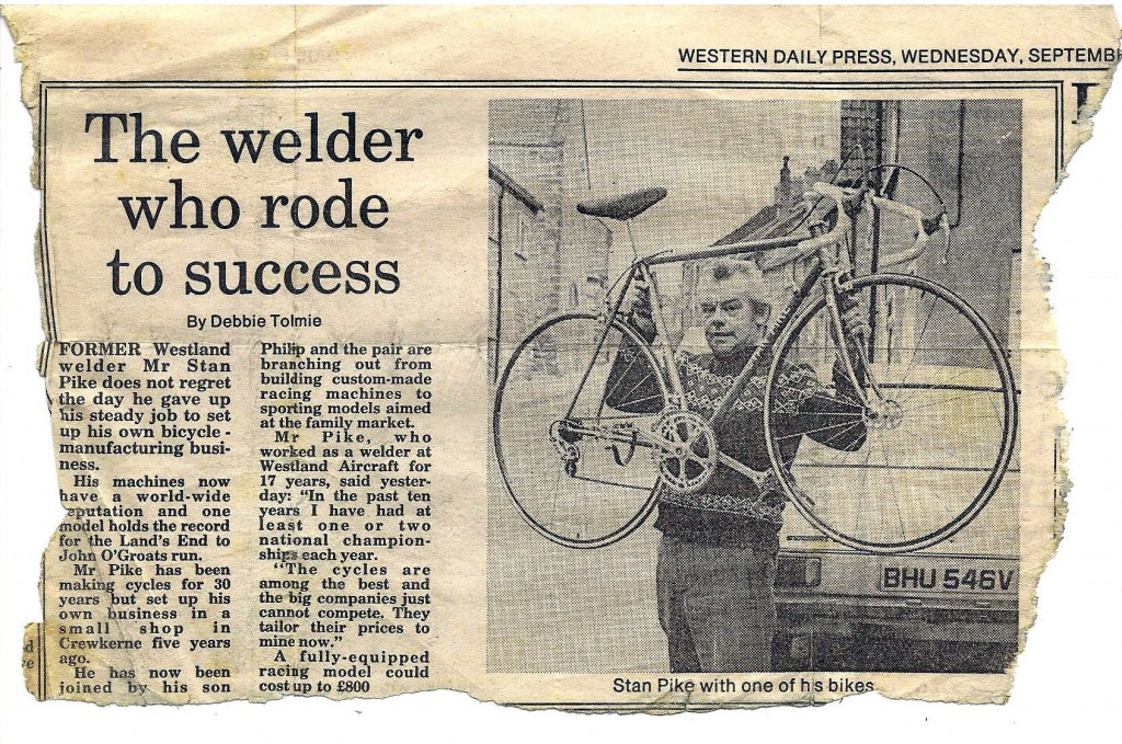 Western Daily Press article from 28th September 1983