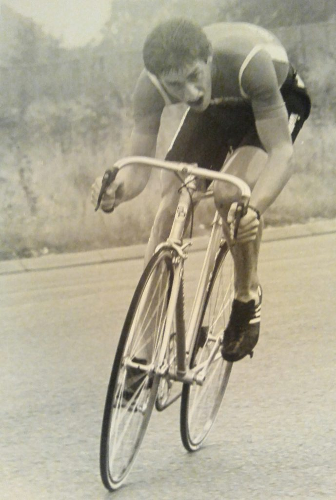 Winning the Norland 25 mile TT on the F10 near Hertford with course record 56.34 – 19 September 1982.
