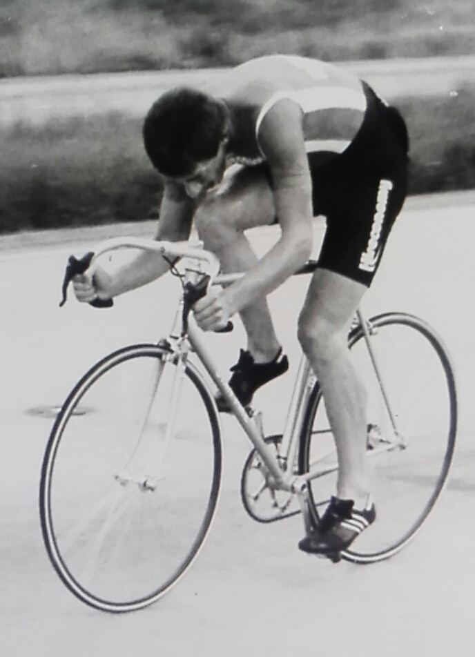 Winning the Vegetarian C&AC 25 mile TT on the F1 6 July 1983