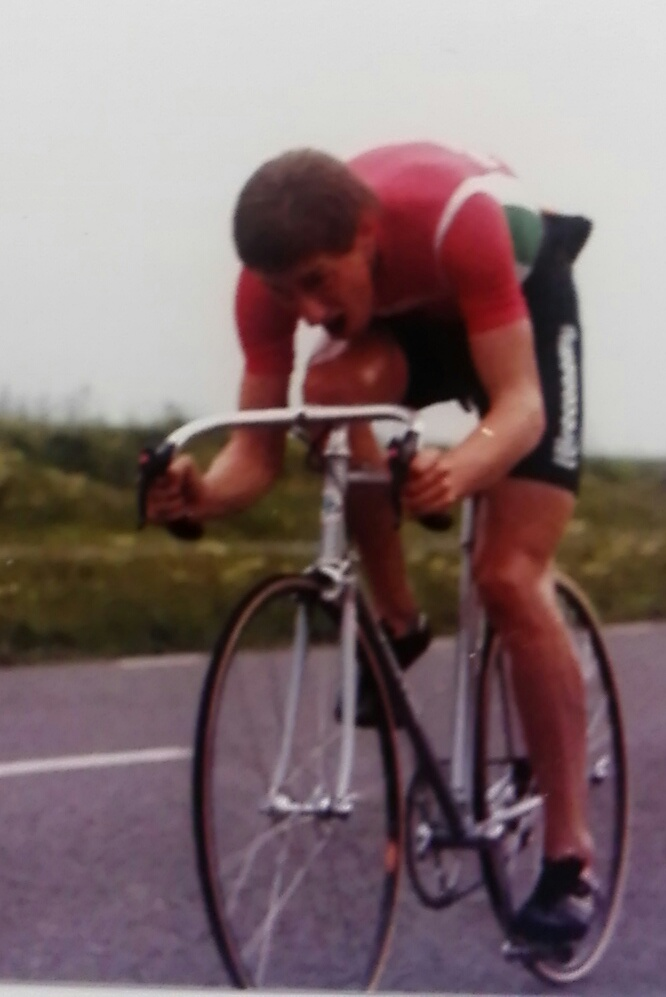 Winning the V C Slough 25 mile TT on the F1 with 53.10, 23 July 1983.